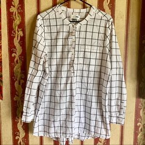 Old navy Tunic Style Flannel Black & White Size XL